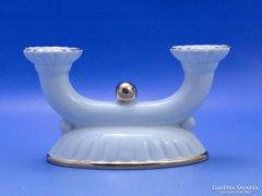 0B946 Régi jelzett GDR porcelán gyertyatartó