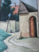Zórád Ernő TABÁN HOLDVILÁG utca Akvarell BUDAPEST