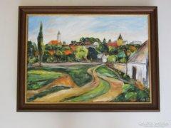 Napfényes Szentendre- 50 cm x 70 cm utcarészlet