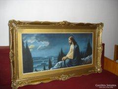 Szentgyörgyi: Jézus az olajfák hegyén - óriás, blondel keret
