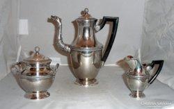Ezüst empire kávés készlet