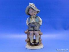 0C458 Nagyméretű régi Bertram porcelán figura
