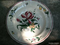 19.sz.-i Sarreguemines porcelánfajansz mélytányér