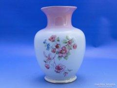 0B971 Régi virágos Hollóházi porcelán váza