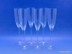 0C050 Igényes karcsú pezsgős pohár készlet 6 db