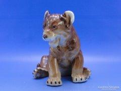 0C068 Régi porcelán oroszlán kölyök