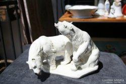 Nagyméretű ENS  porcelán jegesmedvék