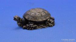 0C334 Aranyozott műgyanta szerencsehozó teknős