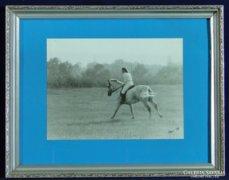 0C217 Eredeti lovas fotográfia Polner szignóval