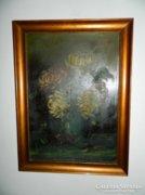 Parányi P. István festménye : virágcsendélet