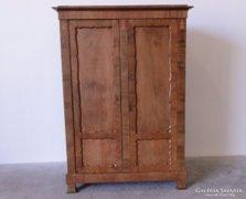0C534 Antik intarziás Biedermeier ruhásszekrény