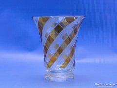 0C070 Régi cseh különleges csiszolt üveg pohár
