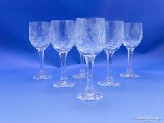 0C090 Kristály boros pohár készlet 6 db