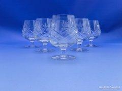 0C093 Üveg likőrös pohár készlet 6 db