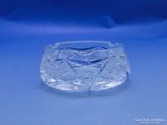 0C094 Régi csiszolt üveg hamutál