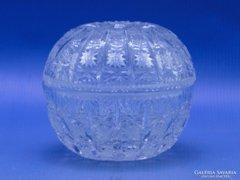 0C306 Csiszolt üveg kristály bonbonier