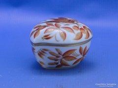 0C501 Régi szív alakú herendi porcelán bonbonier