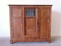 0C543 Antik intarziás Biedermeier ruhásszekrény