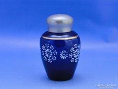 0C611 Antik parádi parfümös üveg szelence