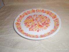Aldöldi porcelán fali tányér, mintás, jelzett