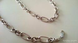 Érdekes szép ezüst nyaklánc