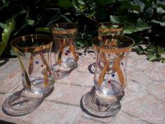 Aranyozott röviditalos poharak