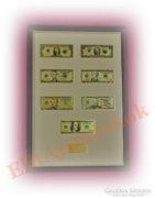 24K arany USA dollár bankjegyek - SZÍNEZVE