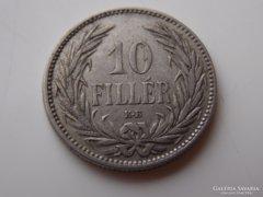 1893 Ferenc József 10 fillér VF 01