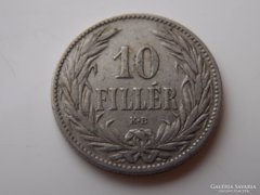 1894 Ferenc József 10 fillér VF 01