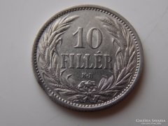 1909 Ferenc József 10 fillér XF 01
