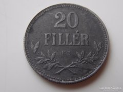 1918 Ferenc József 20 fillér VF 01