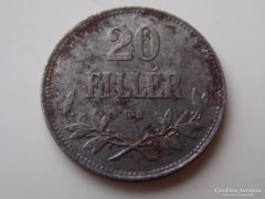 1920 Ferenc József 20 fillér VF 01