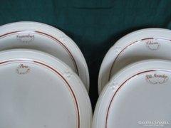 4 db francia tányér 24 cm sajtmárkákkal