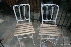 Vas keti székek párban