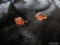 ANTIK 14 karát jelzett arany szmoking ing gomb pár ékszer
