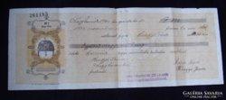 Váltó 1930 augusztus 10, 20 filléres egyszáznegyven pengő