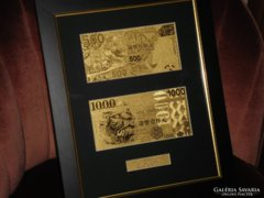 HONG KONG 500-1000 DOLLÁR 24 Kt ARANY BANKJEGY,BANKJEGYEK