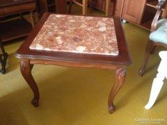 Olasz diófa márványlapos dohányzóasztal