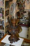 Bronzírozott petróleum lámpa
