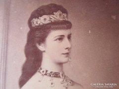 Eredeti CVD fotó Erzsébet királyné SZISZI KUK 1860