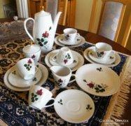 Rózsabimbó mintás Bavaria teás, kapucsínós készlet