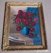 Nagyon szép,nagyméretű antik virágcsendélet !