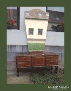 Neobarokk,intarziás,fiókos,tükrös pipere asztal,komód
