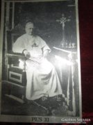 XI. PIUS PÁPA ezüst fotó fém lemezen VATIKÁN 1932