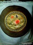 Régi selyem, hímzett kínai terítő