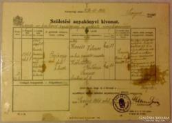 M.kir. Repülő p. Vitézi anyakönyvi kivonat