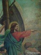 Antik olaj vászon festmény: Jézus