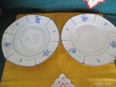 1241 2 db Fraureuth kézzel festett süteményes tányér