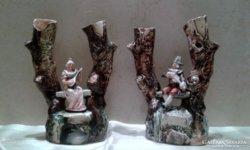 Porcelán szoborpár
