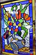 X. Virágcsokor. Eredeti 3D. Tiffany fali kép akció!